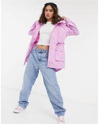 J.Crew J.crew Perfect Hooded Rain Jacket - Pink