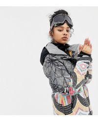 Roxy - Frozen Flow Ski Jacket In Multi Print - Lyst