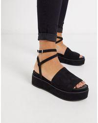 ASOS Tabitha Chunky Flatform Sandals - Black