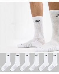 New Balance - 6 Pack Crew Socks In White N5050-801-6eu Wht - Lyst