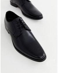 ASOS Schwarze Derby Schuhe zum Schnüren mit farbiger Sohle