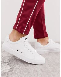 Bershka - Sneaker With Text Detail In White - Lyst