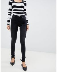 Oasis Jade Washed Black Skinny Jeans - Gray