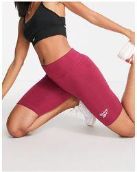 Reebok Leggings cortos s con logo - Rosa