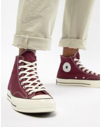 31d6c61f98fb Converse - Chuck Taylor All Star  70 Hi Trainers In Burgundy 162051c - Lyst
