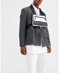 ASOS Chest Harness Bag - Metallic