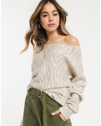 Abercrombie & Fitch Knitted Relaxed Jumper-multi - Natural