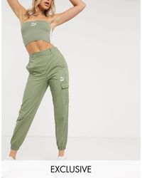 PUMA - – Utility-Hose mit hoher Taille - Lyst