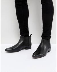 ASOS Кожаные Ботинки Asos Chelsea - Черный