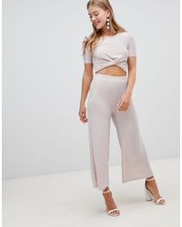 New Look Glitter Culottes - Pink