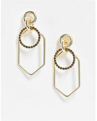 Nali Boucles d'oreilles à pendants style créoles - Métallisé