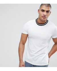 ASOS - Tall T-shirt With Contrast Tipping In Pique - Lyst