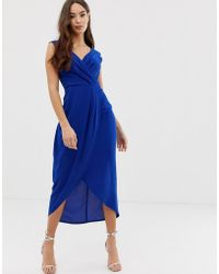 AX Paris - Gekruiste Midi-jurk - Lyst