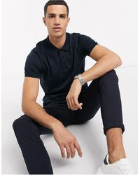 SELECTED - Organic Cotton Slim Fit Polo - Lyst