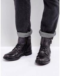 Steve Madden - Galvaniz Leather Boots In Black - Lyst