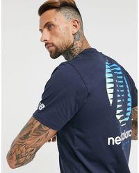 New Balance Темно-синяя Футболка С Логотипом Running-темно-синий