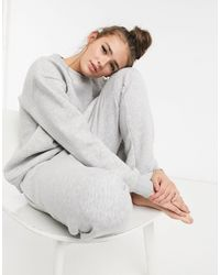 Chelsea Peers Organic Cotton Heavy Weight Lounge jogger - Grey