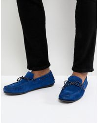SELECTED - Suede Driving Shoe - Lyst