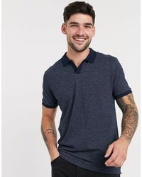 SELECTED Camicia con rever blu navy
