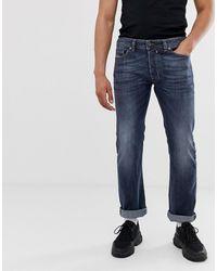 DIESEL – Safado – Gerade geschnittene Jeans - Grau