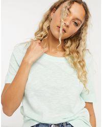 Whistles Rosa Double Trim T-shirt - Blue