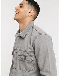 TOPMAN Серая Джинсовая Куртка Из Органического Хлопка Сonsidered-серый
