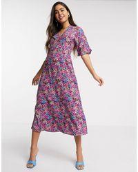 Y.A.S Midi Dress - Purple