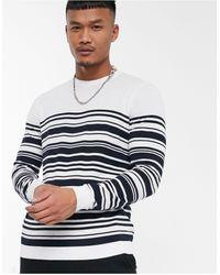 ASOS Knitted Breton Stripe Jumper - White