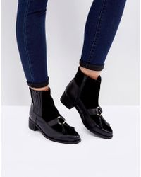 Park Lane - Leather Hardware Tassel Chelsea Boots - Lyst