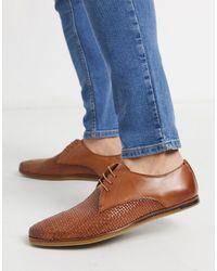 Walk London - Светло-коричневые Кожаные Туфли Со Шнуровкой -коричневый - Lyst