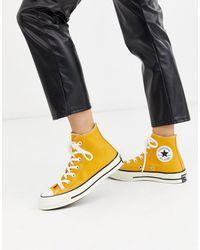 Converse Желтые Высокие Кеды Chuck Taylor All Star-желтый