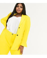 ASOS Asos Design Curve Pop Waisted Suit Blazer - Yellow