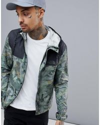 The North Face - 1985 Mountain Jacket Hooded 2 Tone In Leaf Camo Print/black - Lyst