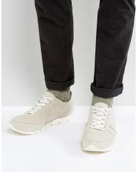 ASOS - Retro Sneakers In Relaxed Off White Faux Suede - Lyst