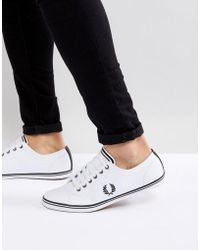 Fred Perry - Kingston Leather Trainers In White - Lyst