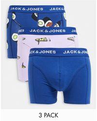 Jack & Jones - Набор Из 3 Разноцветных Боксеров-брифов С Принтом Суши -многоцветный - Lyst