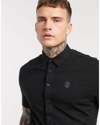 Religion Short Sleeve Chest Logo Jersey Shirt - Black