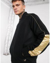 True Religion Университетская Куртка -черный