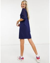 Love Moschino Синее Платье-футболка -голубой - Синий