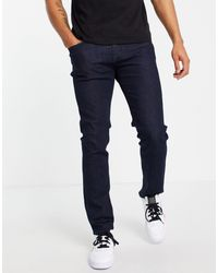 Armani Exchange J13 - Jeans slim lavaggio medio - Blu