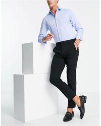 Burton Burton – Essential – Schmal geschnittene Anzughose aus recyceltem Polyester - Schwarz