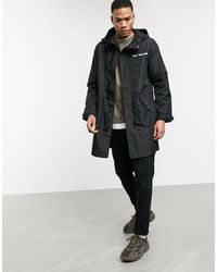 Bershka Lightweight Coat With Back Print - Black