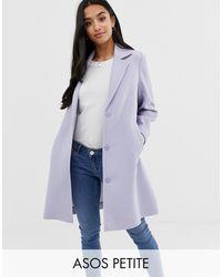 ASOS Пальто Из Крепа - Пурпурный