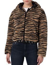 Calvin Klein - Felpa con cappuccio con stampa tigrata - Lyst