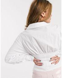 Ivyrevel Белая Рубашка С Корсетной Отделкой И Длинными Рукавами -белый