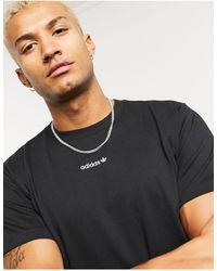 adidas Originals Черная Футболка С Повторяющимся Логотипом -черный