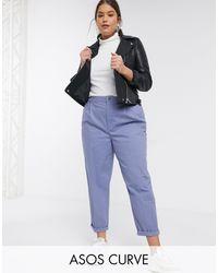 ASOS ASOS DESIGN Maternity - Pantalon chino - Bleu