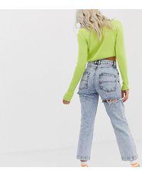 Collusion Petite – x005 – Gerade geschnittene Jeans - Blau