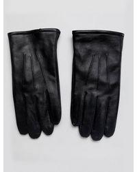 ASOS Черные Кожаные Перчатки Для Сенсорных Гаджетов - Многоцветный