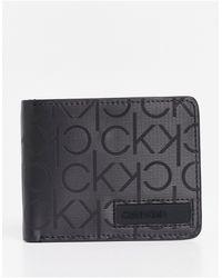Calvin Klein 6cc - Portefeuille pliant - Noir